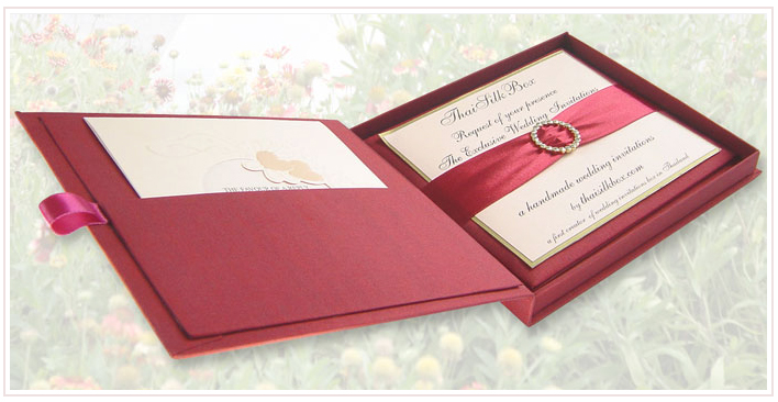 wedding invitations thaisilkboxcom Entering into 2009 Thai Silk Box
