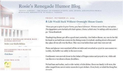 Rosie's Renegade Humor Blog Available on Amazon Kindle