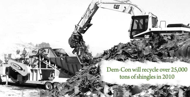 Dem-Con Expands Mobile Shingle Grinding Service