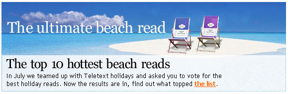 A Poll Carried Out By Penguin Has Revealed That Jeremy Clarkson's Book, For Crying Out Loud, Has Topped A Poll Of Britons' Favourite Beach Reads Of All Time