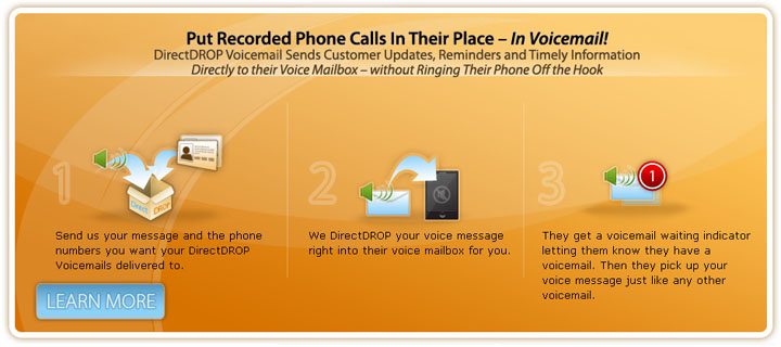 DirectDROP Voicemail Delivers Pre-Recorded Voice Messages - Without Ringing The Phone