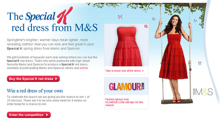 Kellogg's and M&S Join Forces To Sell The Special K Red Dress