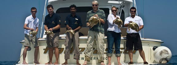 Jumeirah Release Rescued Turtles