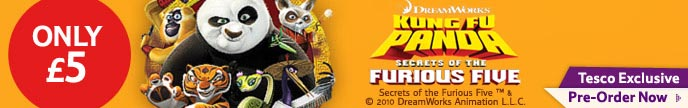 Tesco Pre Order EXCLUSIVE Kung Fu Panda Furious Five