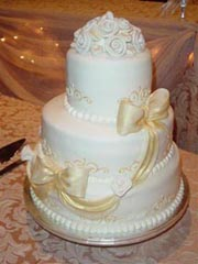 bridal shop wedding cake